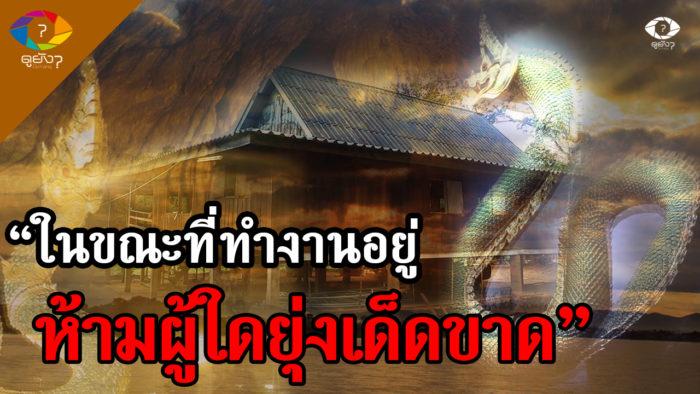พญานาคอาสาเลื่อยไม้สร้างศาลา